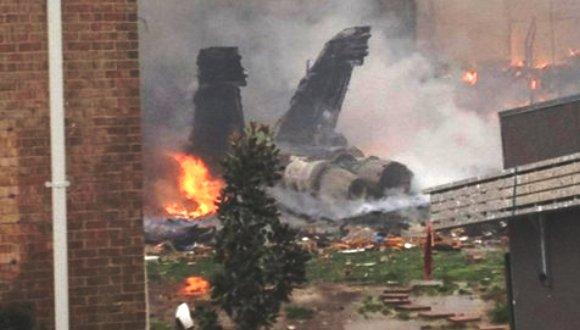 Un avion de chasse F18 americain s'écrase sur un immeuble en Virginie