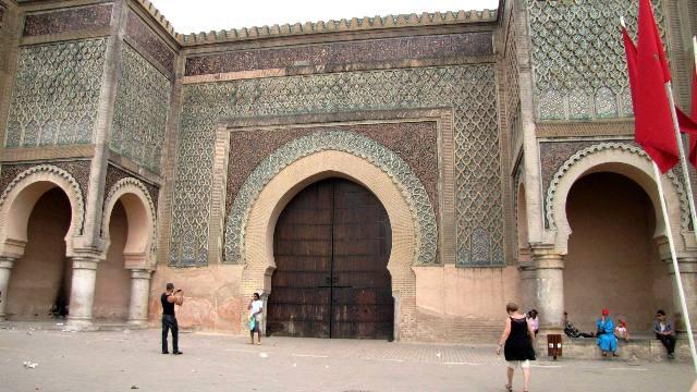 Maroc Meknes porte Bab El Mansour