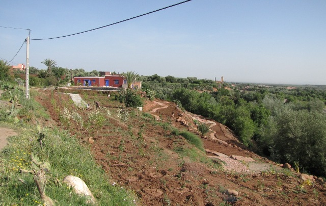 Maroc en route de Marrakech vers la vallee de l'Ourika